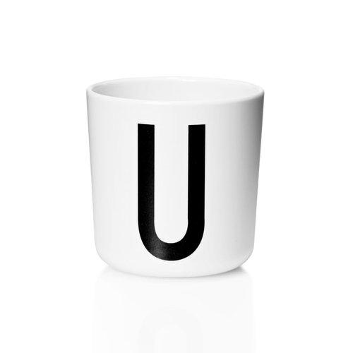 Melamine drinkbeker |  letter U