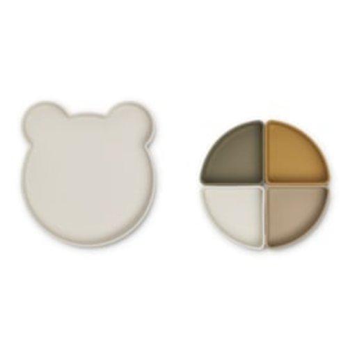 Liewood Arne serveerschaal Mr Bear | Sandy Multi Mix