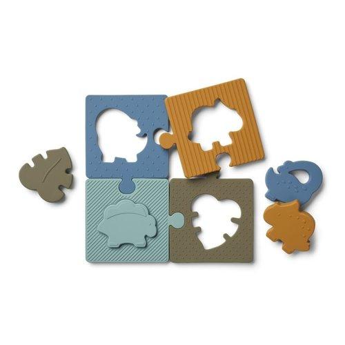 Liewood Bodil puzzel | dino blue multi mix