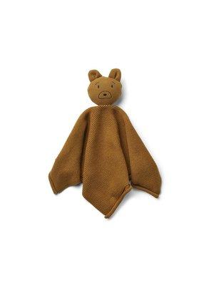 Liewood Milo cuddle cloth  knuffeldoekje | Mr Bear golden caramel