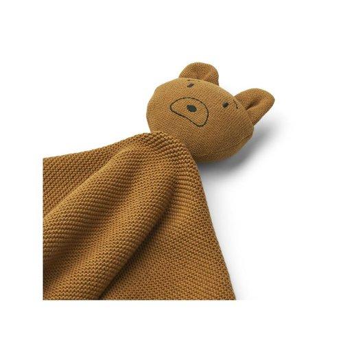 Liewood Milo cuddle cloth  knuffeldoekje   Mr Bear golden caramel