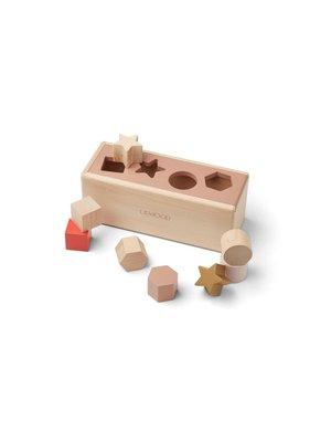 Liewood Midas puzzle box vormenstoof   geometric tuscany rose