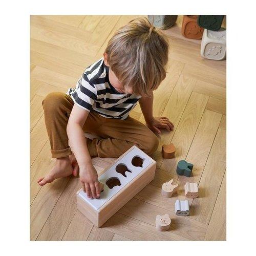 Liewood Midas puzzle box vormenstoof | geometric tuscany rose