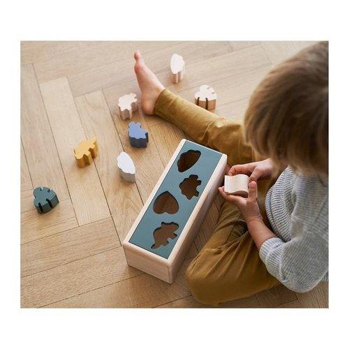 Liewood Midas puzzle box vormenstoof   space blue for multi mix