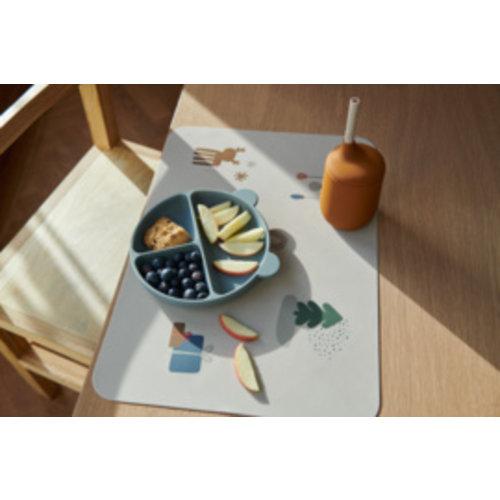 Liewood Harvey dividend plate vakjesbord   peppermint golden caramel (set van 2)