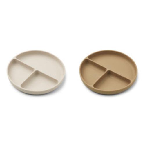 Liewood Harvey divider plate vakjesborden | sandy oat mix (set van 2)