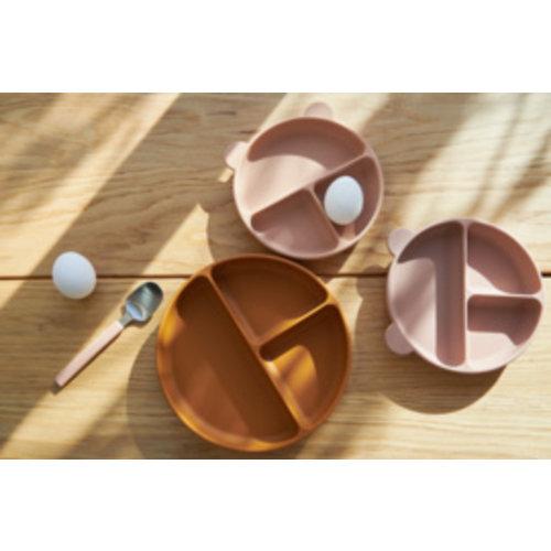Liewood Connie divider bowl siliconen kom   rose mix (set van 2)