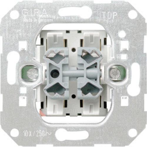 Gira GIRA Basiselement - Pulsschakelaar 2 voudig | 15500