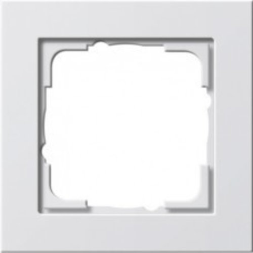 Gira GIRA E2 Afdekraam 1 voudig zuiver wit (hagelwit) 021129