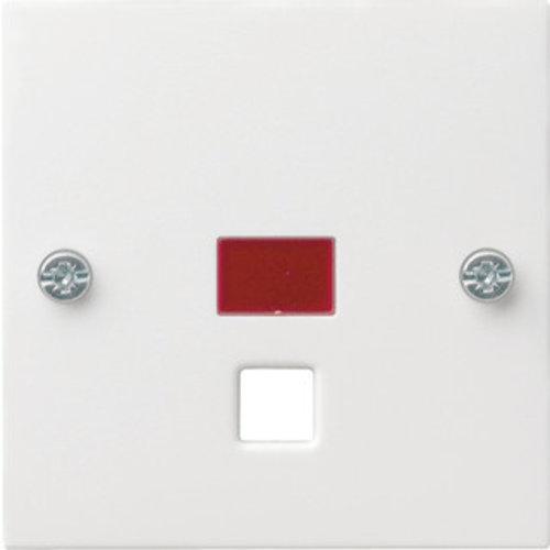 Gira Centraalplaat & controlevenster trekschakelaar 063803 Alpinwit glanzend