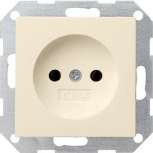 Gira GIRA wandcontactdoos ZONDER randaarde inbouw 1V wit (creme) 48001