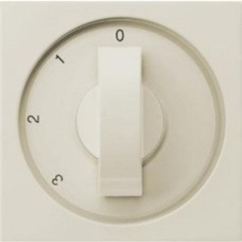 Gira GIRA Afdekking 3-standen (ventilator) schakelaar Wit (creme) 066501