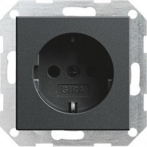 Gira GIRA wandcontactdoos met randaarde kinderveilig 1V antraciet 275528