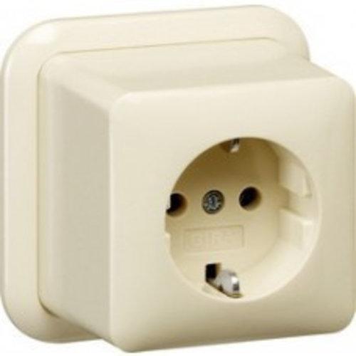 Gira GIRA opbouw wandcontactdoos met randaarde wit (creme) 044010