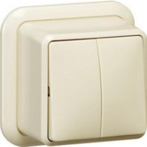 Gira GIRA opbouw serieschakelaar Wit (creme) 010510