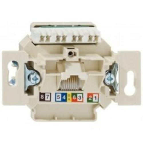Busch-Jaeger Rutenbeck Netwerk / Telefoon basiselement ENKEL Cat. 6 (standaard)