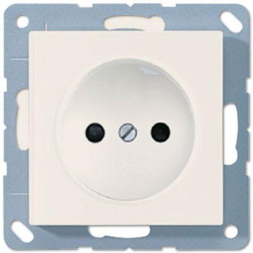 Jung JUNG 1V wandcontactdoos zonder randaarde wit (creme) A511N