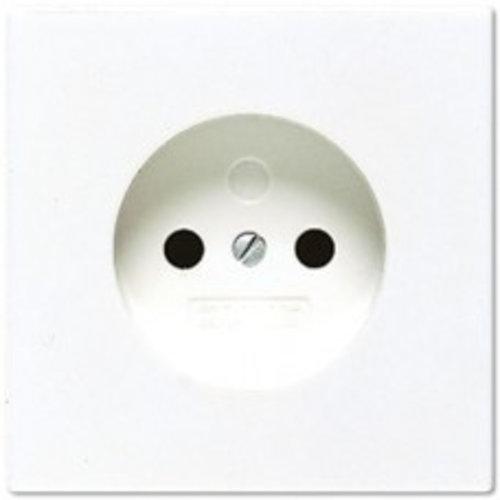 Jung JUNG LS990 wandcontactdoos zonder randaarde 1V alpinwit (hagelwit) LS911NWW