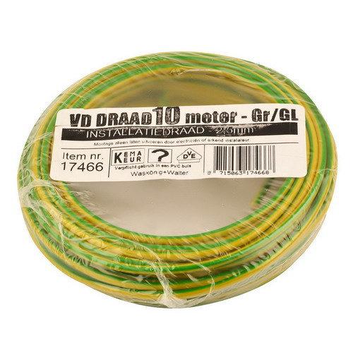 Donne Donne VD draad 2.5mm groen/geel 10 meter