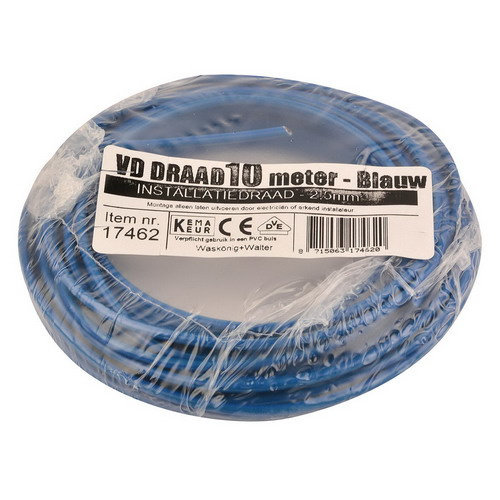 Donne Donne VD draad 2.5mm blauw 10 meter
