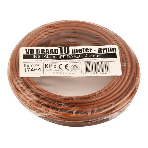 Donne Donne VD draad 2.5mm bruin 10 meter