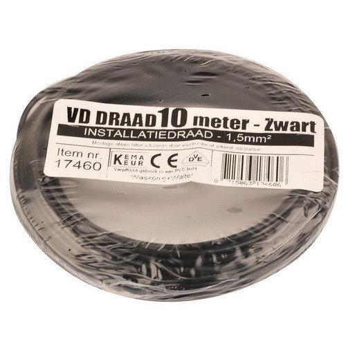 Donne Donne VD draad 1.5mmzwart 10 meter