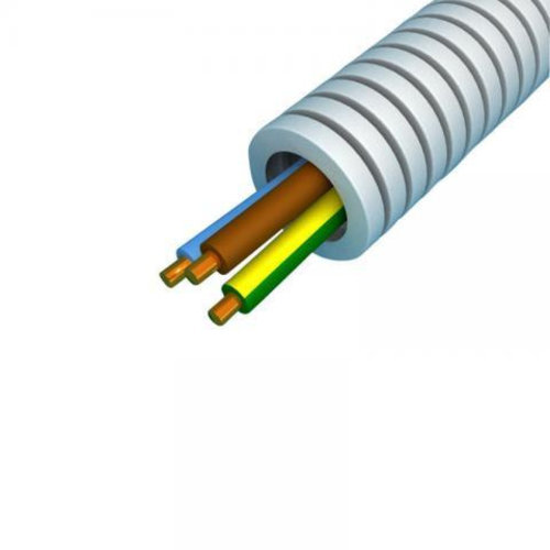 Preflex flexibele buis 16mm met 3 x 2,5 mm draad grijs 100 meter