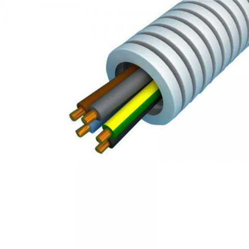 Preflex flexibele buis met VD draad 5x2,5 mm en diameter 20 mm 100 meter