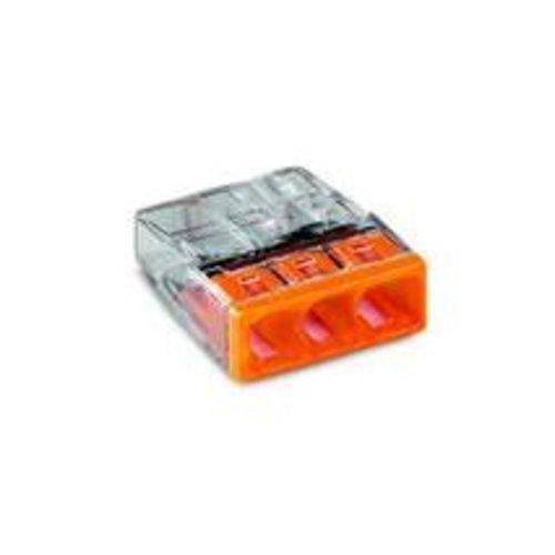 Wago Wago Lasklem 3 polig oranje transparant (100 stuks) 2273-203