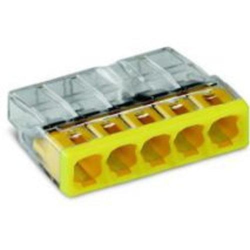 Wago Wago Lasklem 5 polig transparant geel 2273-205 (10 stuks)