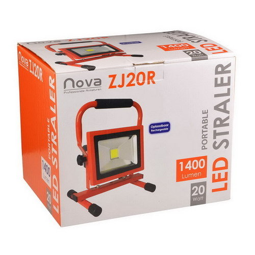 Nova led bouwlamp draagbaar 20watt 1400k