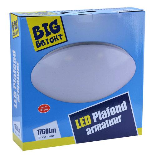 LED PLAFOND/WAND 22W 3000K - Ø 41CM