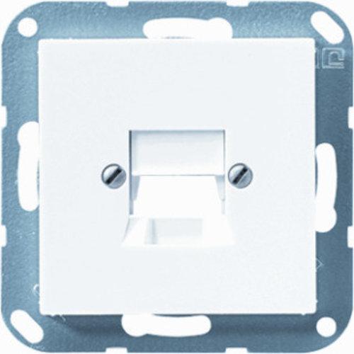 Jung Afdekking voor modular jack 1-voudig wit - A569-15NWEWW