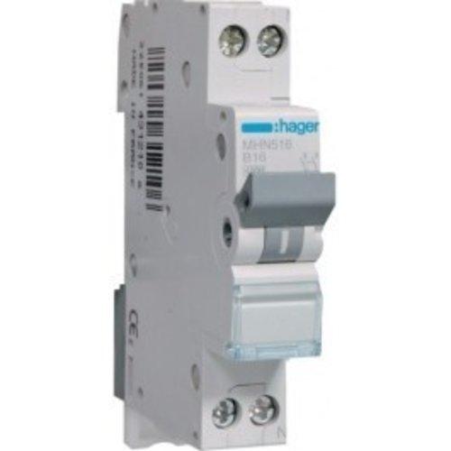 Hager Hager installatieautomaat B16 1P+N MHN516