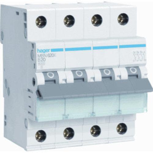 Hager Hager Installatieautomaat 3P+N B20