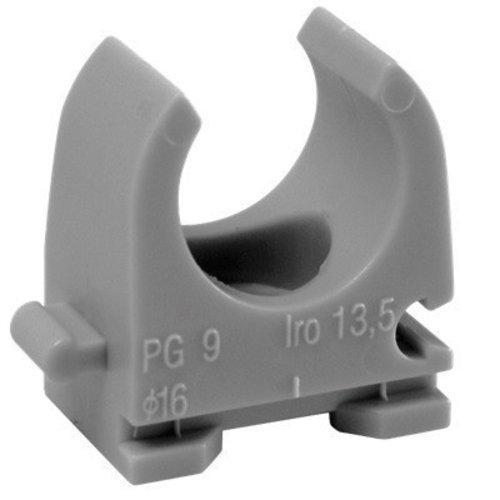 klemzadel donker grijs 16mm 10 stuks