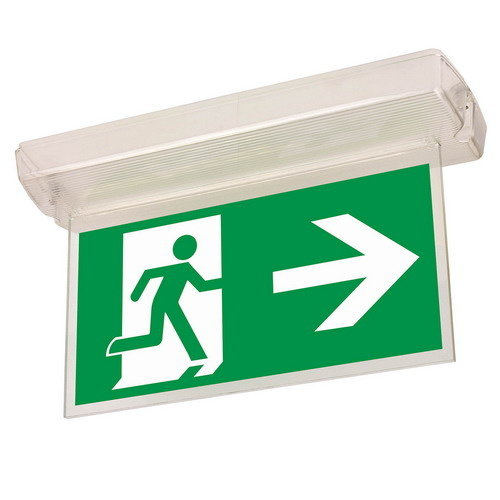 OFXlights noodverlichtingbord uitgang rechts