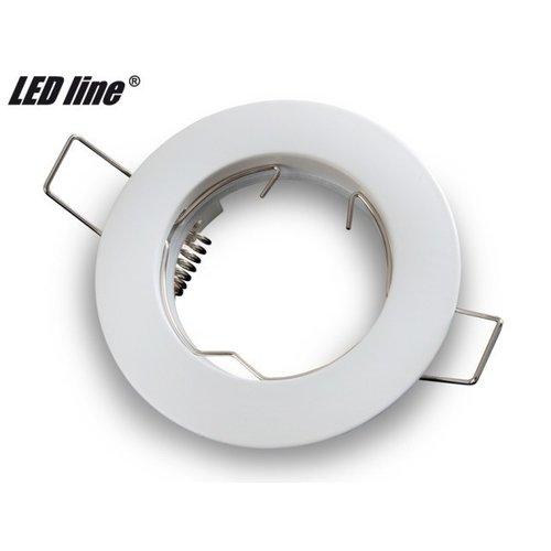 LED line inbouwspot rond vast mat Wit