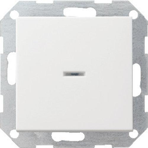 Gira GIRA drukvlak-controleschakelaar 2-polig systeem 55 Zuiver wit (hagelwit) 012203