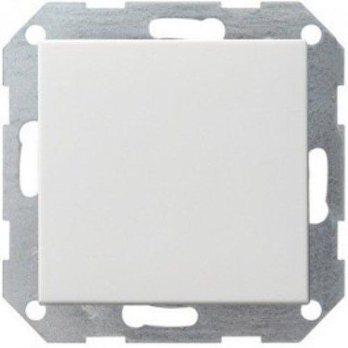 Gira GIRA drukvlakschakelaar kruisschakelaar systeem 55 Zuiver wit (hagelwit) MAT 012727
