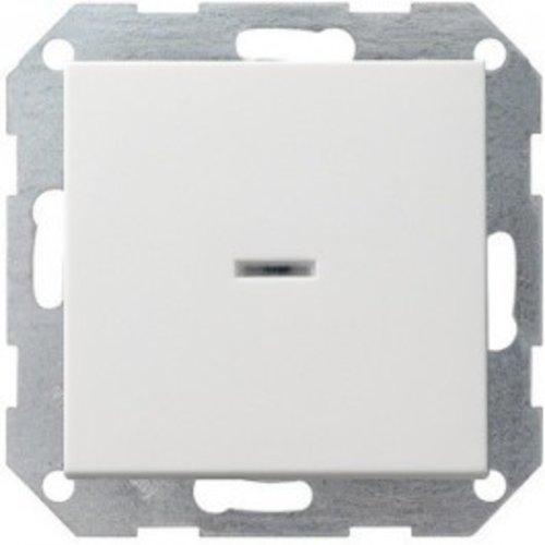 Gira GIRA drukvlak-controleschakelaar 2-polig systeem 55 Zuiver wit (hagelwit) MAT 012227