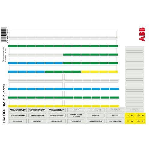 ABB ABB Stickervel 120376