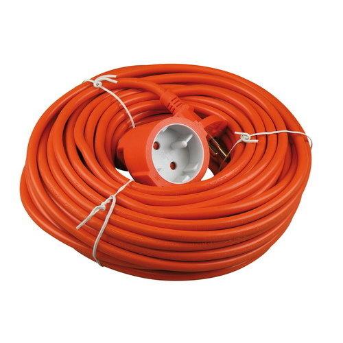 Verlengsnoer 20 meter 2X1MM H05VV-F oranje