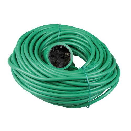 Verlengsnoer 20 meter 2X1MM H05VV-F groen