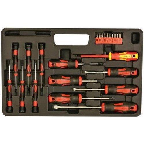 23-delig schroeven+bit set - Tools-box§