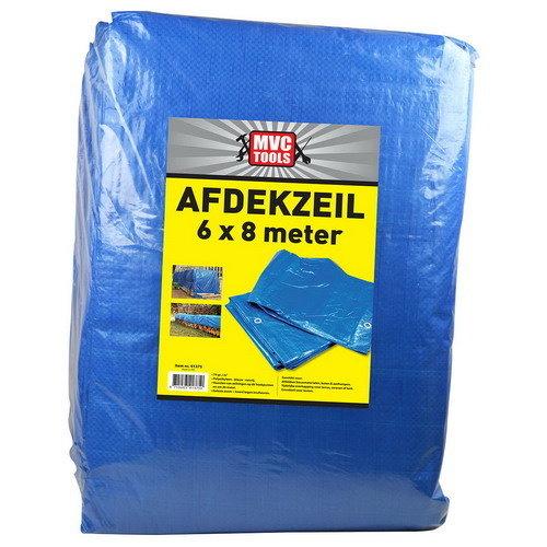 Afdekzeil blauw 6 x 8 meter