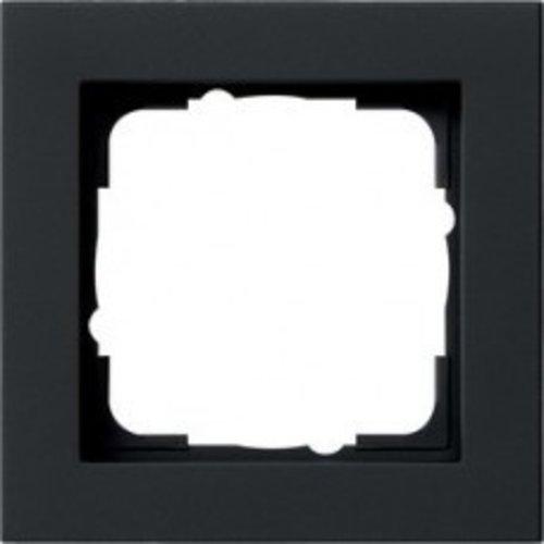 Gira Gira E2 afdekraam 1-voudig Mat Zwart 021109