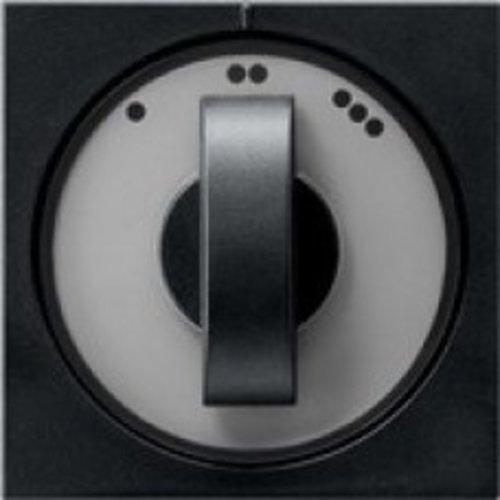 Gira Gira afdekking 3-standen (ventilator) schakelaar Mat Zwart 0665005