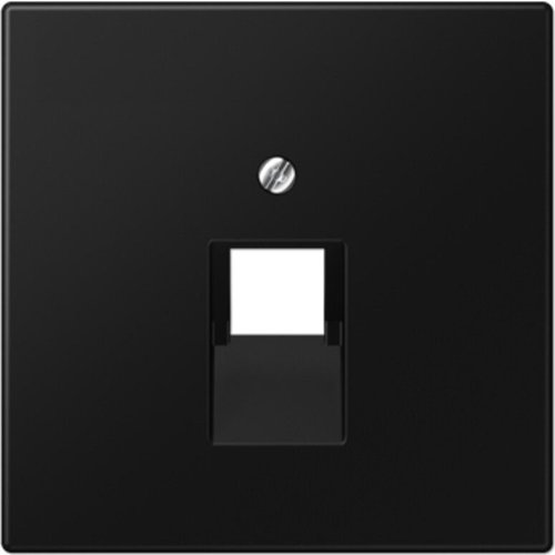 Jung JUNG LS990 afdekplaat 1xRJ45/RJ11 grafietzwart mat LS969-1UASWM