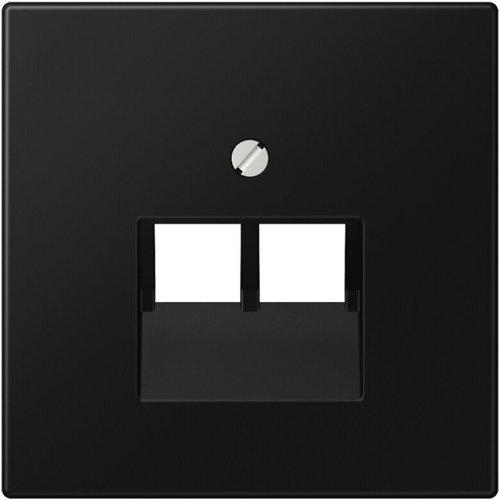 Jung JUNG LS990 afdekplaat 2xRJ45/RJ11 grafietzwart mat LS969-2UASWM